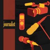 Διανυσματικές απεικόνισης συνεντεύξεις εκθέσεων ειδήσεων έννοιας ζωντανές Στοκ φωτογραφίες με δικαίωμα ελεύθερης χρήσης