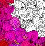 Διανυσματικές αφηρημένες άνευ ραφής συρμένες χέρι διακοσμήσεις σχεδίων φαντασίας Στοκ Εικόνες