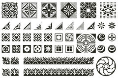 Διανυσματικές αφηρημένες διακοσμήσεις για το σχέδιο των τυπωμένων και προϊόντων Ιστού Στοκ φωτογραφίες με δικαίωμα ελεύθερης χρήσης