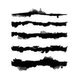 Διανυσματικές βούρτσες παφλασμών Watercolor καθορισμένες Στοκ φωτογραφία με δικαίωμα ελεύθερης χρήσης
