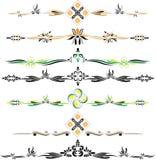Διανυσματικές διακοσμητικές διακοσμήσεις eps10 χρώματος Στοκ Εικόνες