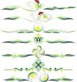 Διανυσματικές διακοσμητικές διακοσμήσεις eps10 χρώματος Στοκ εικόνα με δικαίωμα ελεύθερης χρήσης