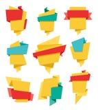 Τα εμβλήματα Origami θέτουν 02 Στοκ Εικόνα