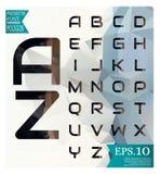 Διανυσματικές επιστολές αλφάβητου κρητιδογραφιών πηγών χαμηλές πολυ που απομονώνονται στο διάνυσμα Στοκ Εικόνες
