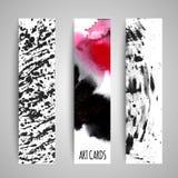 Διανυσματικές κάρτες σύστασης χρωμάτων καθορισμένες Στοκ Εικόνες