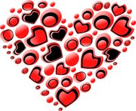Διανυσματικές καρδιές. Στοκ Εικόνες