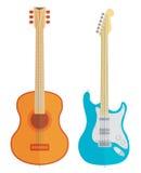 Διανυσματικές κιθάρες καθορισμένες Στοκ φωτογραφία με δικαίωμα ελεύθερης χρήσης