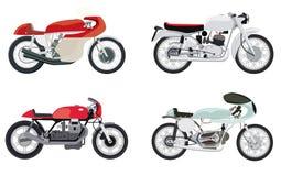 Διανυσματικές μοτοσικλέτες ύφους δρομέων καφέδων Στοκ Εικόνα