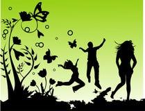 διανυσματικές νεολαίε&sig Στοκ φωτογραφία με δικαίωμα ελεύθερης χρήσης