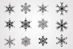 Διανυσματικές νιφάδες χιονιού Στοκ Εικόνες