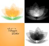 Διανυσματικές παραλλαγές υποβάθρου λουλουδιών καθορισμένες Ελεύθερη απεικόνιση δικαιώματος