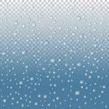 Διανυσματικές πτώσεις νερού στο γυαλί Απελευθερώσεις βροχής ελεύθερη απεικόνιση δικαιώματος