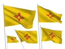 Διανυσματικές σημαίες ΑΜΕΡΙΚΑΝΙΚΩΝ Νέων Μεξικό Στοκ φωτογραφία με δικαίωμα ελεύθερης χρήσης