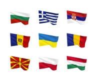 Διανυσματικές σημαίες Ανατολική Ευρώπη Στοκ εικόνα με δικαίωμα ελεύθερης χρήσης