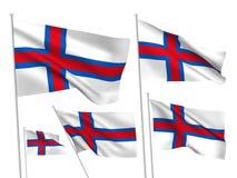 Διανυσματικές σημαίες Νησιών Φερόες Στοκ εικόνες με δικαίωμα ελεύθερης χρήσης