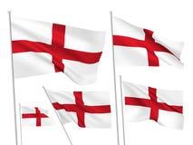 Διανυσματικές σημαίες της Αγγλίας Στοκ Φωτογραφίες