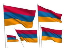Διανυσματικές σημαίες της Αρμενίας Στοκ Φωτογραφίες