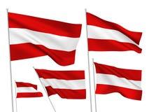 Διανυσματικές σημαίες της Αυστρίας Στοκ φωτογραφία με δικαίωμα ελεύθερης χρήσης