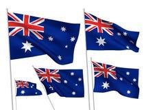 Διανυσματικές σημαίες της Αυστραλίας Στοκ Εικόνες