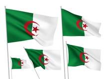 Διανυσματικές σημαίες της Αλγερίας Στοκ Φωτογραφία