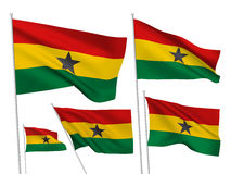 Διανυσματικές σημαίες της Γκάνας Στοκ φωτογραφία με δικαίωμα ελεύθερης χρήσης
