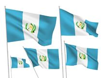 Διανυσματικές σημαίες της Γουατεμάλα απεικόνιση αποθεμάτων