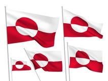 Διανυσματικές σημαίες της Γροιλανδίας Στοκ Εικόνες
