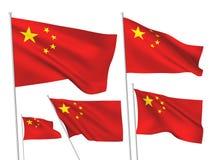 Διανυσματικές σημαίες της Κίνας Στοκ Εικόνες