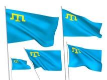 Διανυσματικές σημαίες της Κριμαίας Στοκ εικόνες με δικαίωμα ελεύθερης χρήσης
