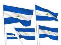 Διανυσματικές σημαίες της Νικαράγουας διανυσματική απεικόνιση