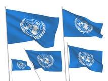 Διανυσματικές σημαίες της οργάνωσης Ηνωμένων Εθνών ελεύθερη απεικόνιση δικαιώματος