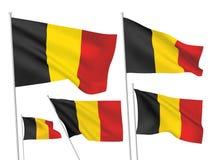 Διανυσματικές σημαίες του Βελγίου Στοκ Εικόνες