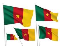 Διανυσματικές σημαίες του Καμερούν Στοκ Εικόνες