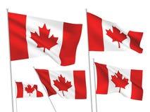 Διανυσματικές σημαίες του Καναδά Στοκ εικόνα με δικαίωμα ελεύθερης χρήσης