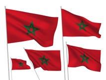 Διανυσματικές σημαίες του Μαρόκου Στοκ Φωτογραφία