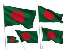 Διανυσματικές σημαίες του Μπανγκλαντές Στοκ Φωτογραφία