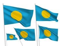 Διανυσματικές σημαίες του Παλάου Στοκ Εικόνες