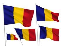 Διανυσματικές σημαίες του Chad Στοκ Φωτογραφία
