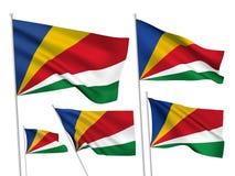Διανυσματικές σημαίες των Σεϋχελλών Στοκ Φωτογραφίες