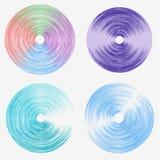Διανυσματικές στρογγυλές γραμμές ταχύτητας Ένα σύνολο χρωματισμένων ελλείψεων Αφηρημένοι κύκλοι του προωστήρα Περιστροφή γύρω από απεικόνιση αποθεμάτων