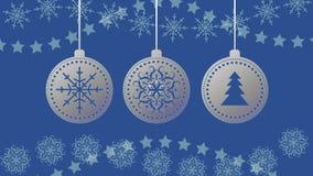 Διανυσματικές σφαίρες Χριστουγέννων snowflakes στο υπόβαθρο 10 eps στοκ εικόνες