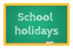 Διανυσματικές σχολικές διακοπές χαρτικών πινάκων Στοκ εικόνα με δικαίωμα ελεύθερης χρήσης