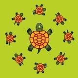 Διανυσματικές χελώνες Στοκ εικόνες με δικαίωμα ελεύθερης χρήσης