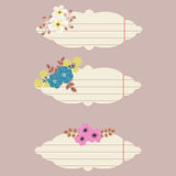 Διανυσματικές floral σημειώσεις Στοκ εικόνες με δικαίωμα ελεύθερης χρήσης