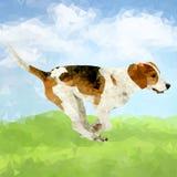 Διανυσματικές polygonal σκιαγραφίες σκυλιών Στοκ φωτογραφίες με δικαίωμα ελεύθερης χρήσης