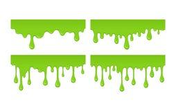 Διανυσματικές slime πτώσεις και λεκέδες Στοκ Εικόνες