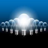 Διανυσματική λάμπα φωτός στοκ εικόνες