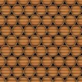 Διανυσματική άνευ ραφής ανασκόπηση των ξύλινων βαρελιών διανυσματική απεικόνιση