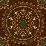 Διανυσματική άνευ ραφής κυκλική floral διακόσμηση Στοκ Εικόνες