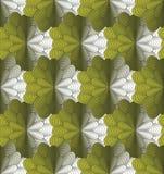Διανυσματική άνευ ραφής πράσινη ανασκόπηση λουλουδιών Στοκ Εικόνες